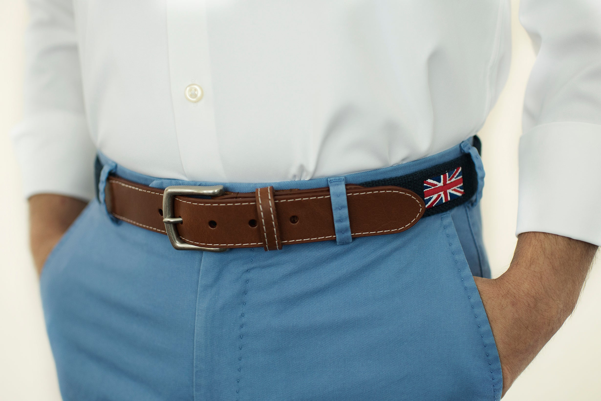 Union Jack Flag Belt, Great Britain (patriot navy)