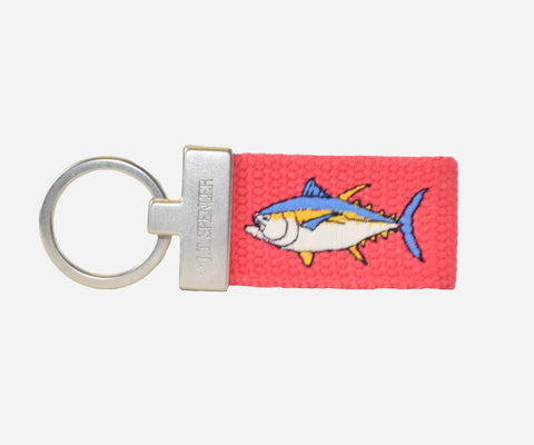 Yellow Fin Tuna key fob (geranium)