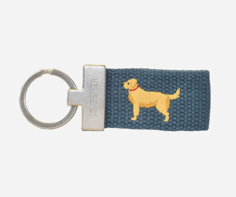 Golden Retriever Key Fob (slate)