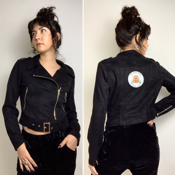 One More Drag Faux Suede Moto Jackets