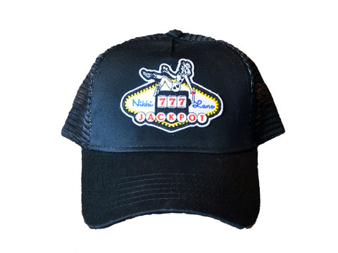 Black Jackpot Trucker Hat
