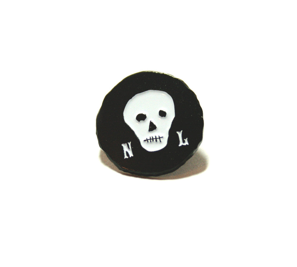 Black Skull Lapel Pin