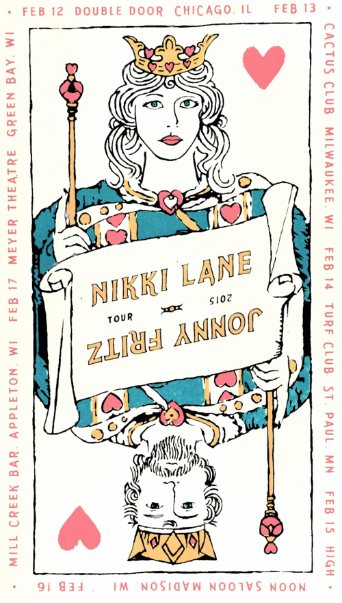 Nikki Lane & Johnny Fritz Tour Poster
