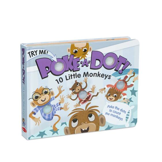 Melissa and Doug 10 Little Monkeys Poke-A-Dot Book
