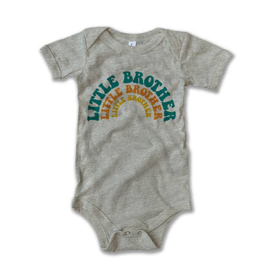 Rivet Apparel Little Brother Onesie Heather Stone