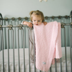 Saranoni Bamboni Receiving Blanket in Light Pink