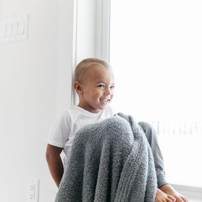Saranoni Bamboni Receiving Blanket in Gray