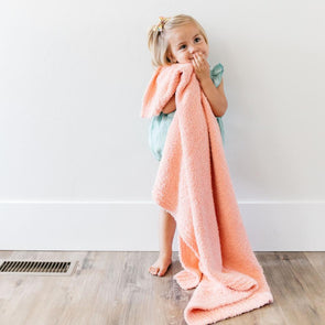 Saranoni Bamboni Receiving Blanket in Peach