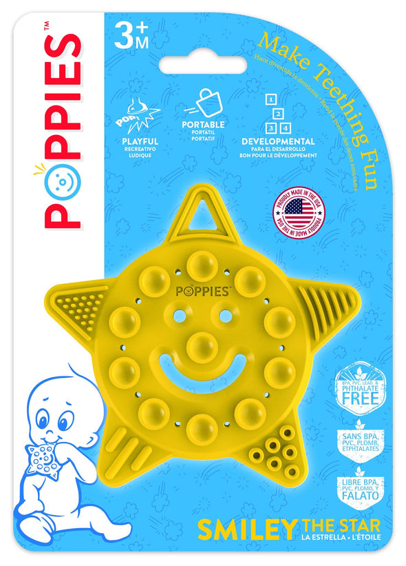 Poppies Smiley the Star Teether