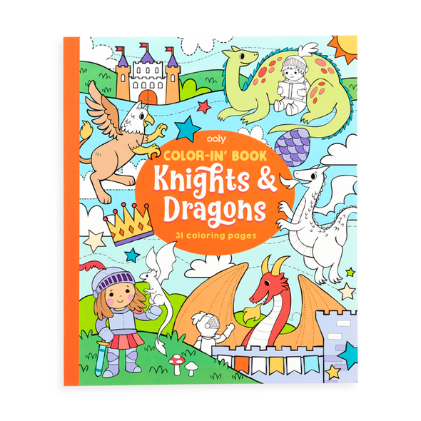 OOLY Color-In Book in Knights and Dragons