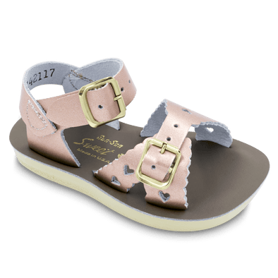 Salt Water Sweetheart Sandals in Rose Gold