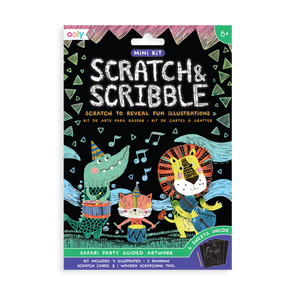 OOLY Scratch and Scribble Mini Art Kit in Safari