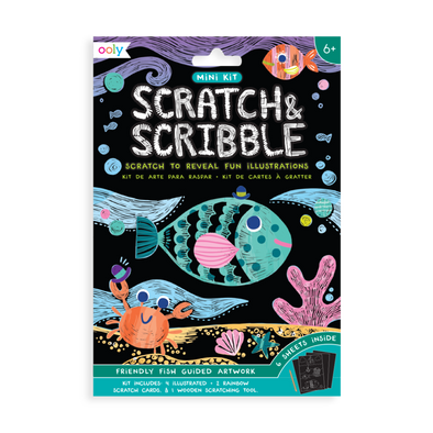OOLY Scratch and Scribble Mini Art Kit in Friendly Fish