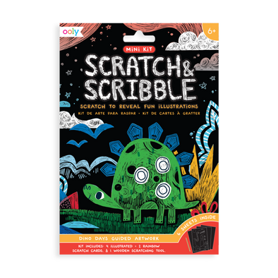 OOLY Scratch and Scribble Mini Art Kit in Dino Days