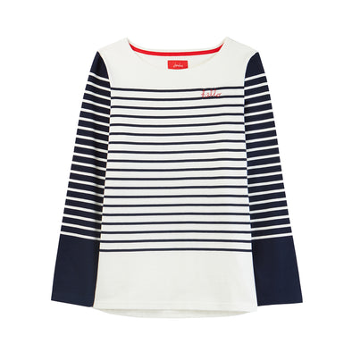 Navy Stripe L/S Top