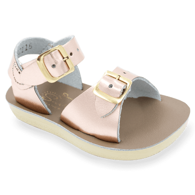 Salt Water Surfer Sandals in Rose Gold