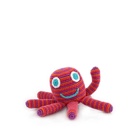 Pink Octopus Rattle