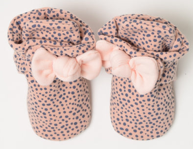 Pink Dot Snap Booties