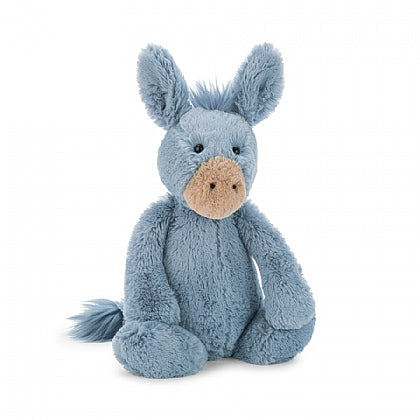 Jellycat Bashful Blue Donkey Small