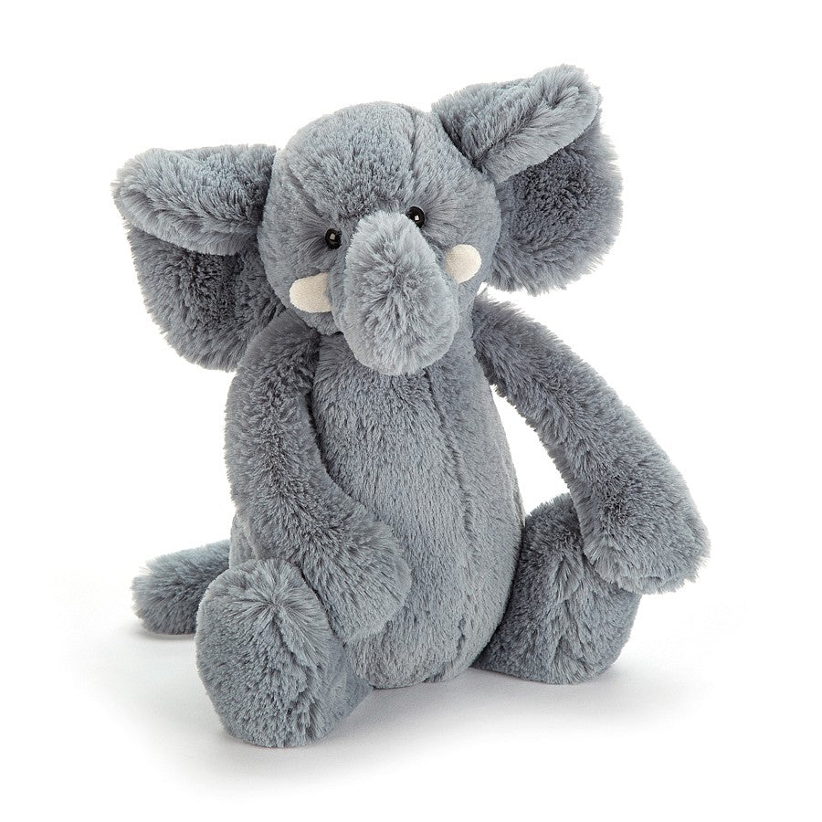 Jellycat Bashful Grey Elephant in Medium