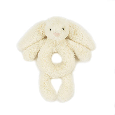 Jellycat Bashful Cream Bunny Ring Rattle