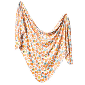 Copper Pearl Swaddle Blanket in Citrus