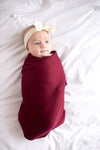 Copper Pearl Swaddle Blanket in Ruby