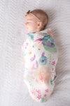 Copper Pearl Swaddle Blanket in Bloom
