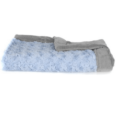 Saranoni Lush Mini Blanket in Light Blue Swirl and Gray