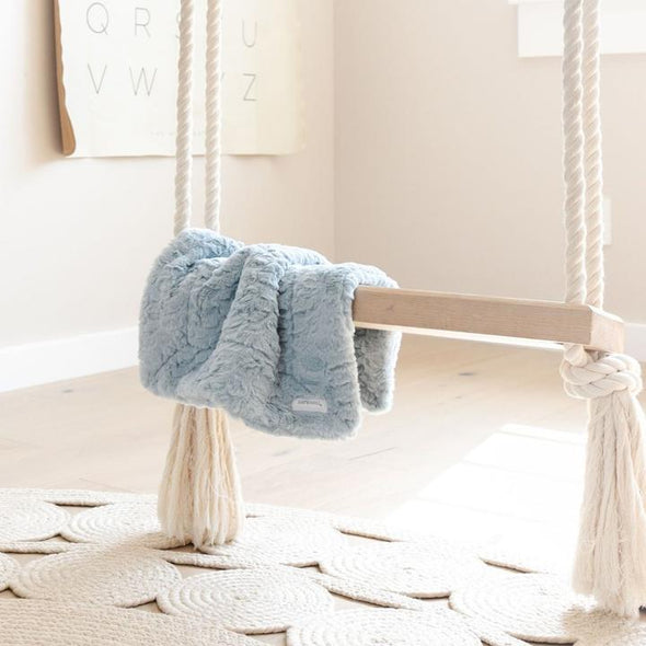 Saranoni Dream Mini Blanket in Heather Blue