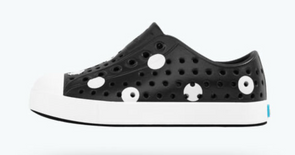 Native Slip On in Black and White Polka Dots