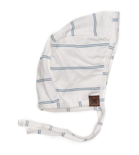 PapillonBebe Bonnet in Dusk Stripe