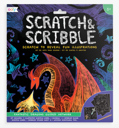OOLY Scratch and Scribble Art Kit in Dragons