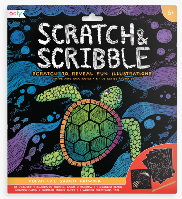 OOLY Scratch and Scribble Art Kit in Ocean