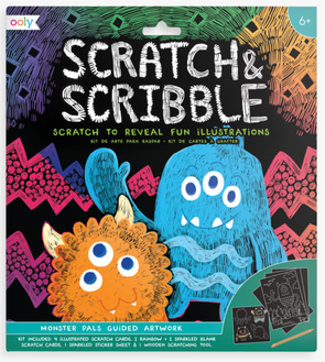 OOLY Scratch and Scribble Art Kit in Monster