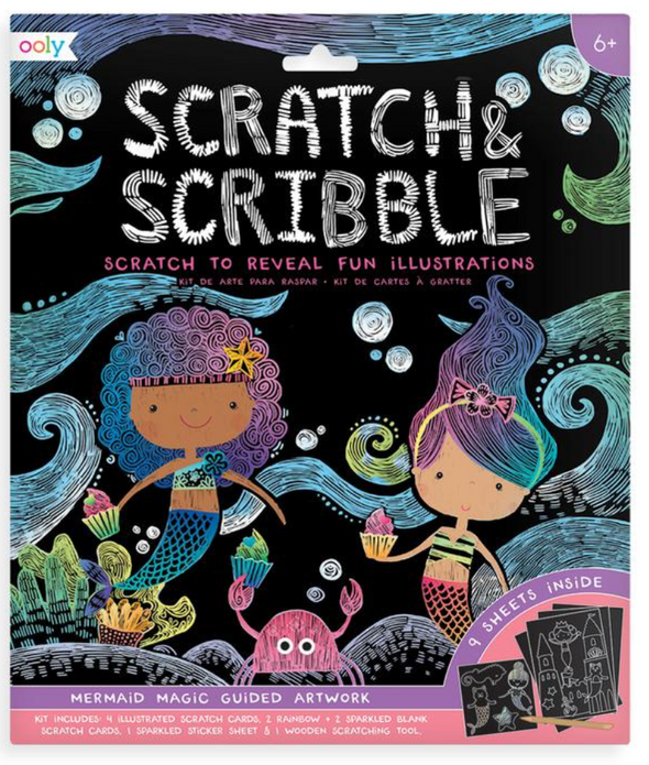 OOLY Scratch and Scribble Art Kit in Mermaid