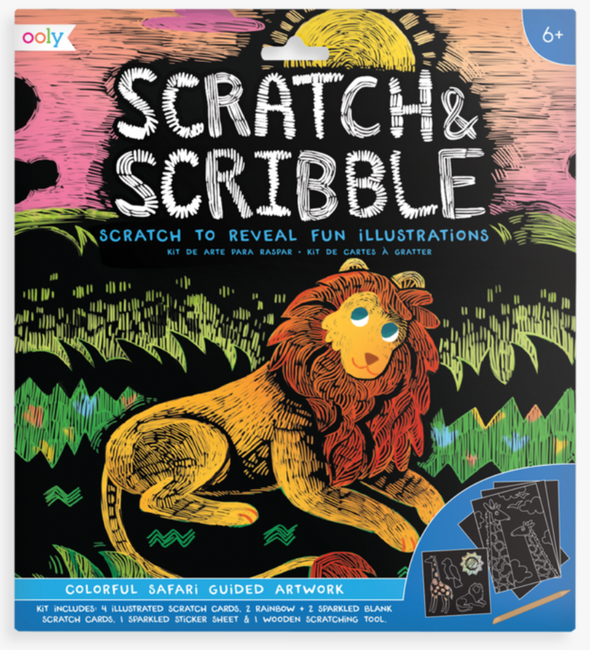 OOLY Scratch and Scribble Art Kit in Safari