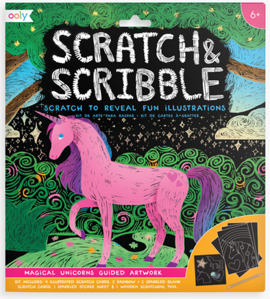 OOLY Scratch and Scribble Art Kit in Unicorn