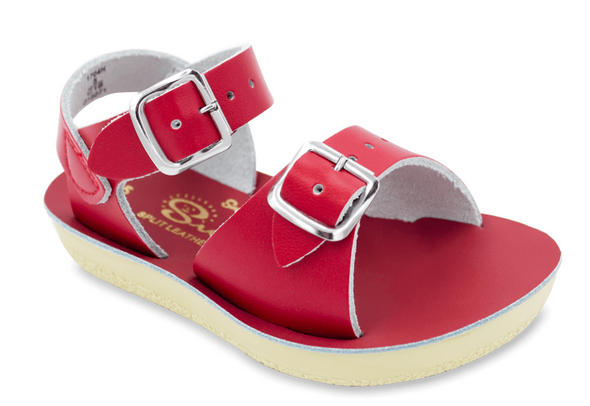 Salt Water Surfer Sandals in Red
