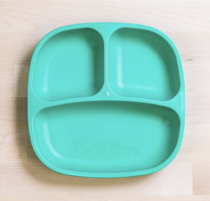 Re-Play Divided Plate in Aqua