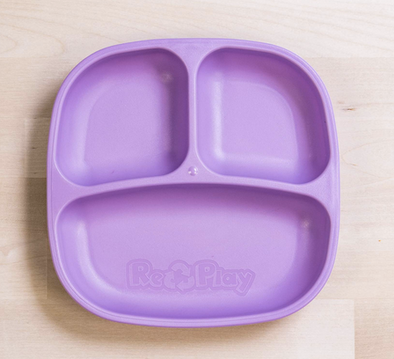 Re-Play Divided Plate in Purple
