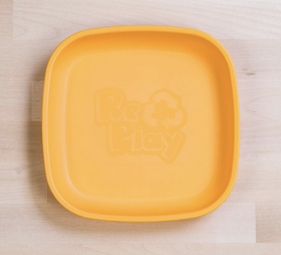 Re-Play Flat Plate in Sunny Yellow