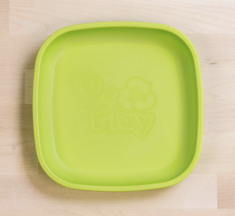 Re-Play Flat Plate in Lime Green