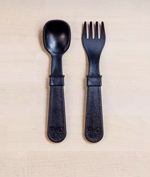 Re-Play Utensil Pair in Black