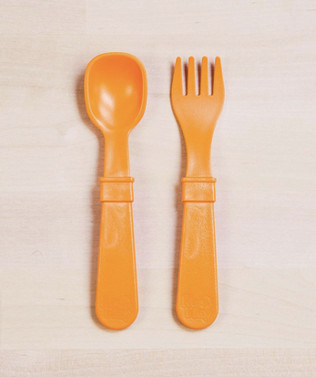 Re-Play Utensil Pair in Orange