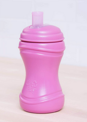 Re-Play Toddler Soft Spout Sippy in Bright Pink