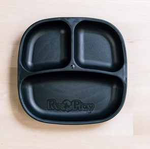 Re-Play Divided Plate in Black