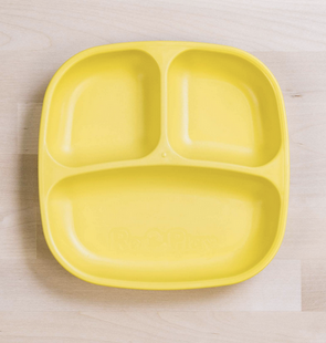 Re-Play Divided Plate in Yellow