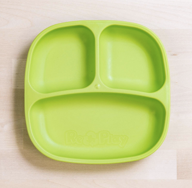Re-Play Divided Plate in Lime Green