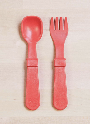 Re-Play Utensil Pair in Red
